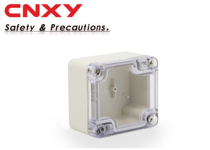 Screw locking IP65 clear lid plastic junction box 64*58*35mm electrical box