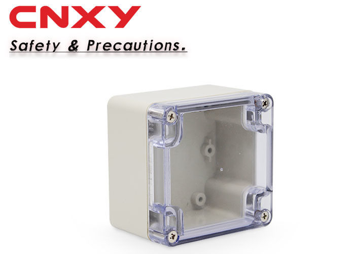 Waterproof transparent ABS plastic junction box plastic project box 83*81*56mm